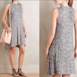 Maeve Anthro Emerson Gray Ribbed Swing Dress